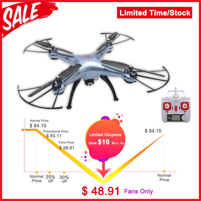 SYMA X5HC 4CH 2.4G 6-Axis RC Professional Drone With Camera RC Helicopter VS Syma X5C X5SC X5SW X400/X600 s20w цена