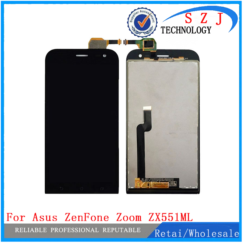 New 5.5'' inch For Asus ZenFone Zoom ZX551ML Full LCD Display Touch Panel Screen Monitor+ Digitizer Glass Assembly Free shipping for asus 100% lcd asus zenfone 5 a500cg hongkong