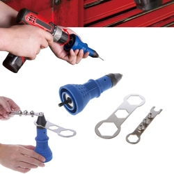 Electric Rivet Gun Tool Cordless Heavy Duty Nut Riveting Insert Hand Pop Drill