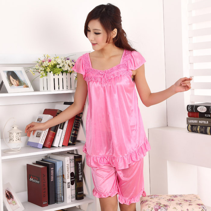 8b108d11bb Selling! Women sexy silk pajamas piece