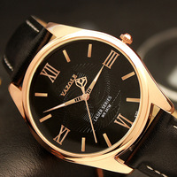 YAZOLE Rose Gold Quartz Watch Men Luxury Famous 2016 Wristwatch Male Clock Wrist Watch Business Quartz