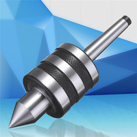 NEW MT1 Live Center Morse Taper MT1 Triple Bearing Lathe Shaft For CNC Cutter Shaft Precision