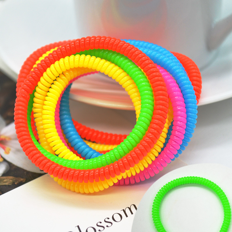 1Pcs/Set Candy Colors Telephone Line Elasticity Rubber Hair Band Tie Hair Accessory Fashion Women   Headwears