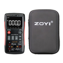 ZOYI ZT X אמיתי RMS דיגיטלי מודד כפתור 9999 ספירות מתח הנוכחי אוהם אוטומטי מודד עם אנגלית רוסית ידנית