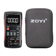 ZOYI ZT X True RMS رقمي متعدد زر 9999 التهم الجهد الحالي أوم السيارات المتعدد مع دليل الإنجليزية الروسية