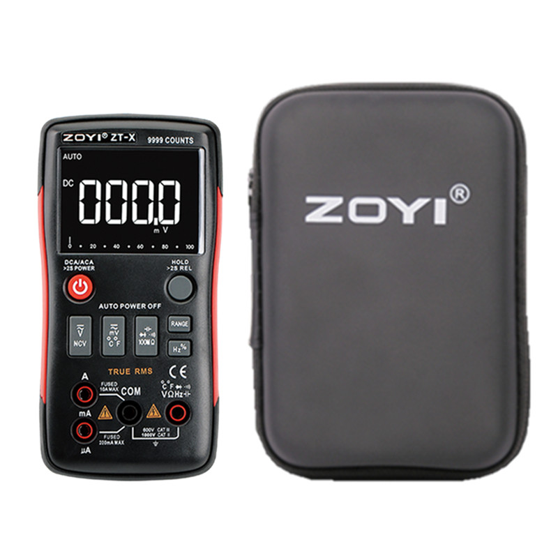 ZOYI ZT-X True-RMS Digital Multimeter Button 9999 Counts Voltage Current Ohm Auto Multimeter With English Russian Manual