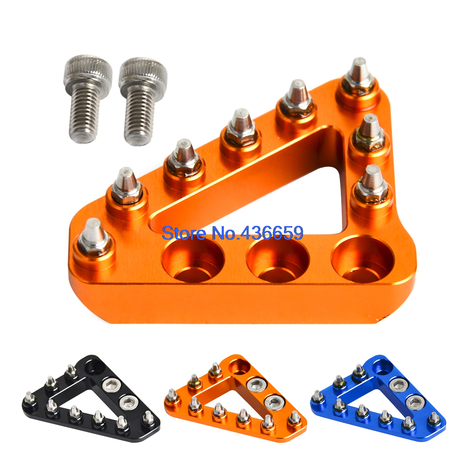 Hammerhead CNC Rear Brake Pedal Tip Large For KTM 68 85 125 150 200 250 300 350 450 525 530 SX XC XCF SXF EXC XCW SXS SMR SXS cnc stunt clutch lever easy pull cable system for ktm exc excf xc xcf xcw xcfw mx egs sx sxf sxs smr 50 65 85 125 150 200 250