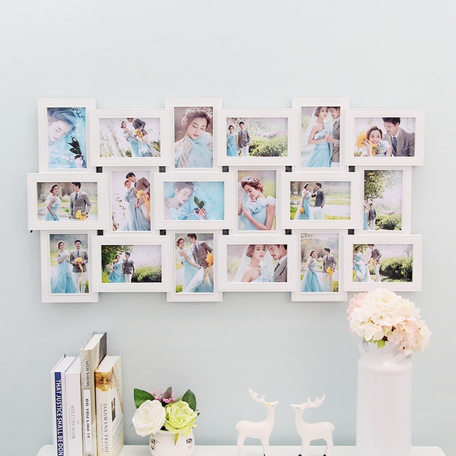 18 Photos Frame Wall Decoration Multi Pictures Frame Collage Aperture DIY  Home Decor For Living Room