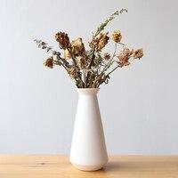 7.8inch Modern Jar Design Ceramic Vase White Porcelain Flower Vase Decorative Tabletop Vase Ornaments Home Decor