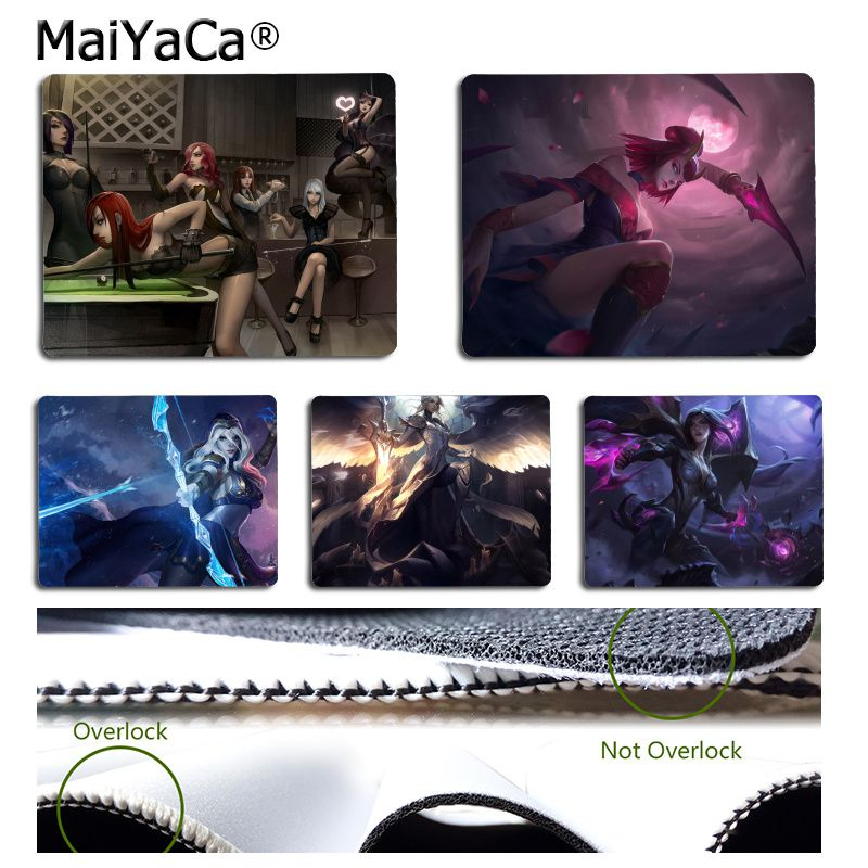MaiYaCa Non Slip PC League of legends Comfort small Mouse Mat Gaming Mouse pad Rubber Computer Mousepad For PC Laptop Notebook image