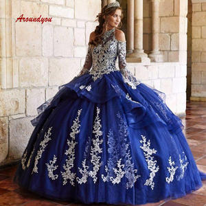 Aroundyou Quinceanera Dresses Ball Gown Long Debutante