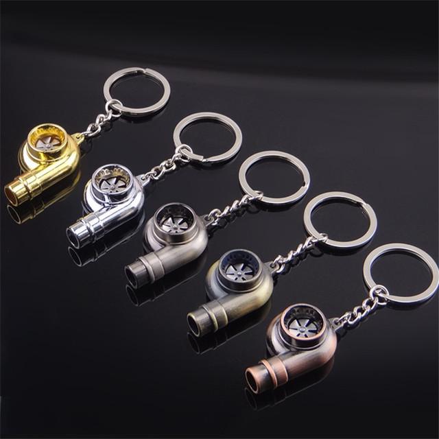 Whistle Sound Turbo Keychain Sleeve Bearing Spinning Turbocharger Keyring