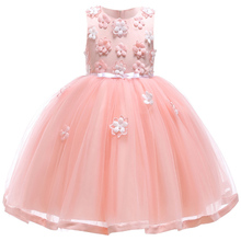 Princess Girls Dress Costume Kids Vestidos Summer Flowers Wedding Dress Easter Girl Carnaval Party Dresses For Children Clothing