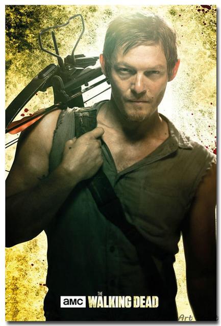 Шелковый плакат гобелен Ходячие мертвецы The Walking Dead вариант 3