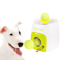 Interactive Fetch Ball Dog Toys Tennis Launcher Automatic Train Throwing Machine Pet Ball Throw Device With Ball Dropshipping