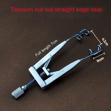 Titanium alloy nut straight edge sealing ophthalmic children opener spreader Microscopic Medical Ophthalmic Instruments replacement 35mm hs366 6v4 5a ophthalmic lamp 6v27w op2366 p44s for haag straight hs900 930 neitz shin nippon