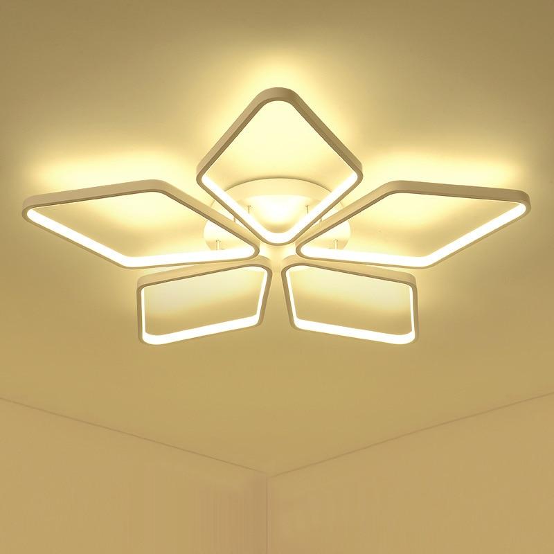 JUSHENG Modern Acrylic Ceiling Lights for Living Room Bedroom Dining Room Home LED Ceiling Lamp Lighting Fixtures