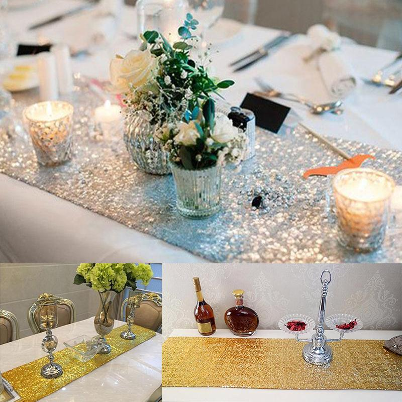 30x275cm Sequin Table Runners For Wedding Party Home Decor Bling Festive Banquet Decoration China