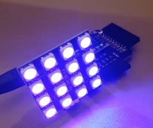 WS2812B 5050 RGB LED 4×4 16Bit RGB LED with Integrated Drivers For Arduino