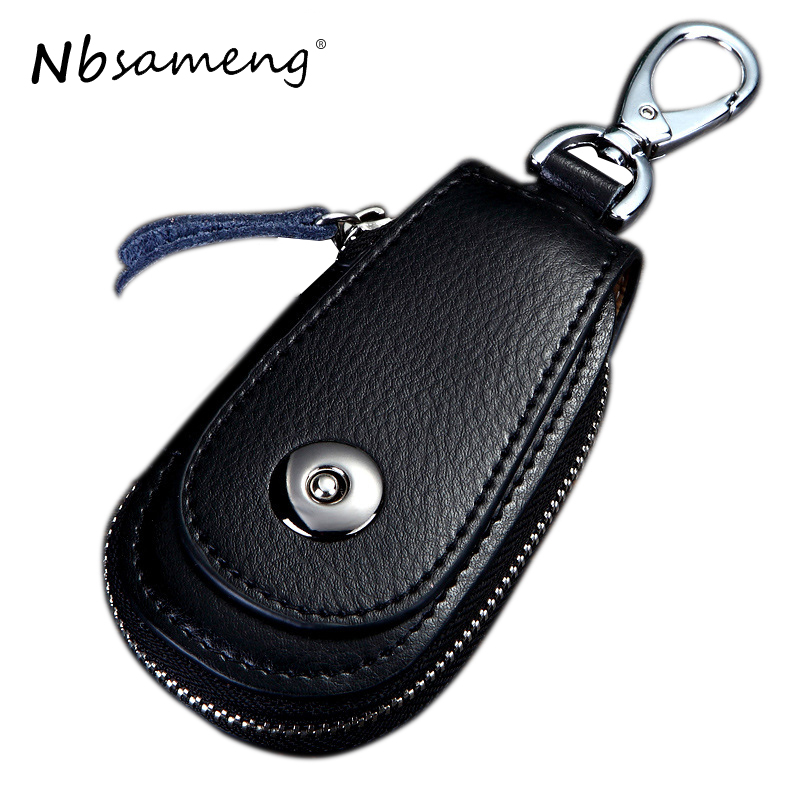 2018 High Quality Men Car Key Holder Wallet Genuine Leather Car Key Case Vintage Business Key Package Men Housekeeper Key Bag