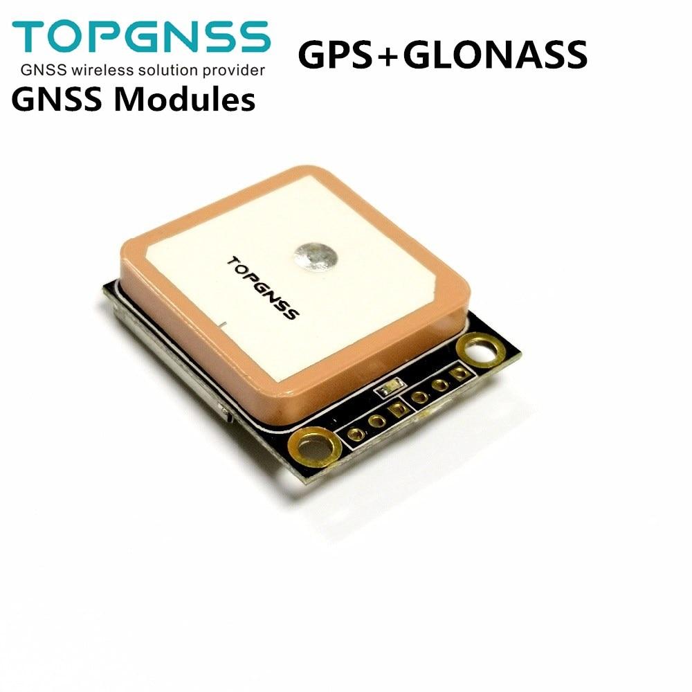 3,3-5 V TTL GPS Modue GPS GLONASS modo dual M8n GNSS módulo receptor de antena, FLASH incorporado, NMEA0183 FW3.01 TOPGNSS