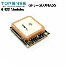 3.3-5V TTL GPS Modue GPS GLONASS dual mode M8n GNSS Module Antenna Receiver,built-in FLASH,NMEA0183 FW3.01 TOPGNSS