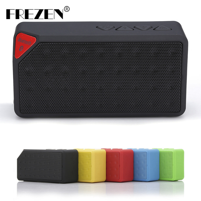 FREZEN Wireless Mini X3 Bluetooth Speakers TF USB FM Jambox Style Portable Music Sound Box Subwoofer Loudspeakers for Smartphone