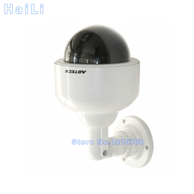 Outdoor Waterproof Surveillance Realistic Dummy Home Dome Fake CCTV Security Camera with Flashing Red LED Light Free Shipping waterproof dummy cctv camera with flashing led for outdoor or indoor realistic looking fake camera for security