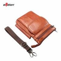NEW Genuine Leather Vintage Messenger Traveling Shoulder Bag Waist Bag for Iphone7 6 Plus 5 Case Below 6.5'' Phones Belt Pouch