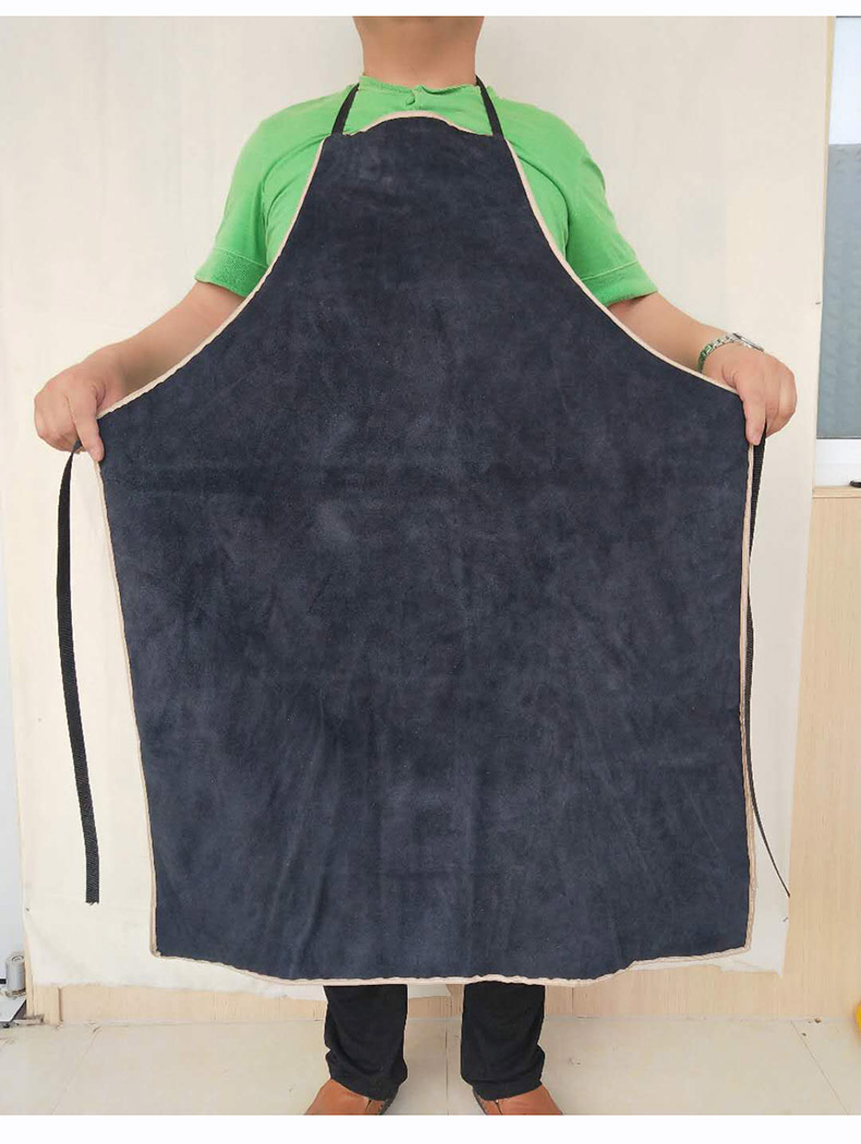 Welding Apron Heat Insulation A Whole Piece of Cow Leather Protective Aprons Flame Resistant Welders Workplace Safety Clothing (16)