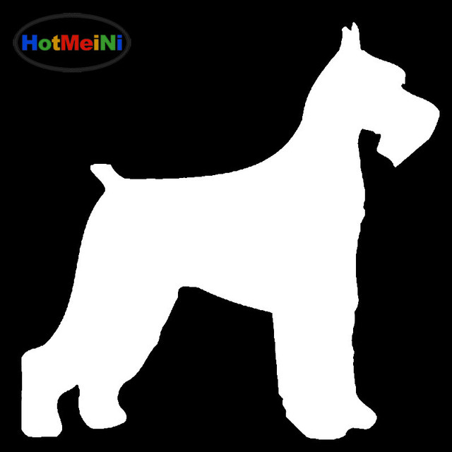 HotMeiNi Naughty lovely family animals Giant Schnauzer Dog Car Sticker For  Bumper Door Laptop car decor