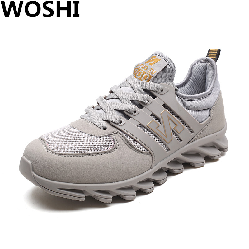 Summer outdoor running Lightweight men Sneakers air Mesh Comfortable Men running sports Shoes Flats Breathable loafers shoes w1