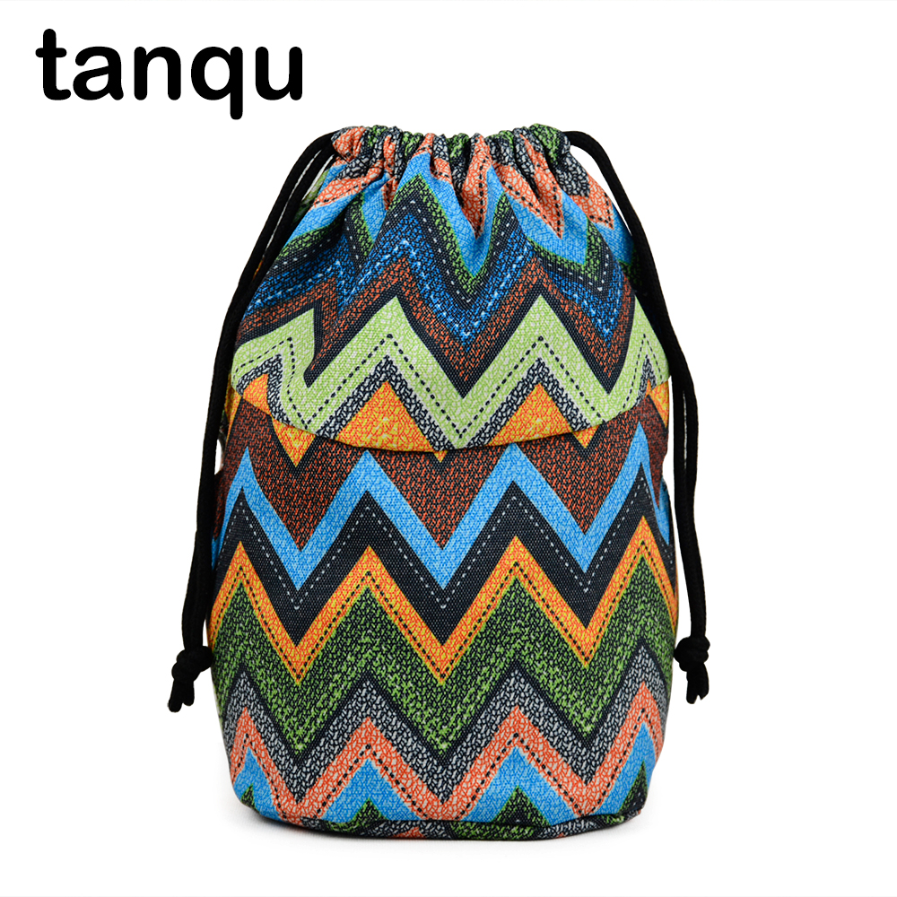 Tanqu Drawstring Lining For Obasket Obag Canvas Fabric Inner Pocket Handbag Insert For O Bucket O Bag