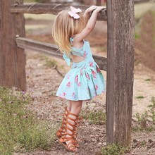 baby girl dress 2018 Summer Infant Toddler Kid Girls Floral Sleeveless Dress Princess Backless Dress Clothes vestido infantil