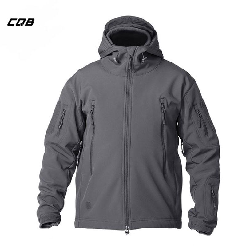CQB szabadtéri sport kemping taktikai katonai Softshell kabát kapucnis férfi ruházat szélálló vízálló kabát túrázáshoz
