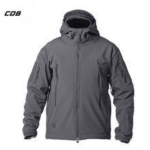 CQB Outdoor Sports Camping Tactical Military Softshell Jacket Hooded Men's Clothes Windproof Waterproof Coat for Hiking Fishing