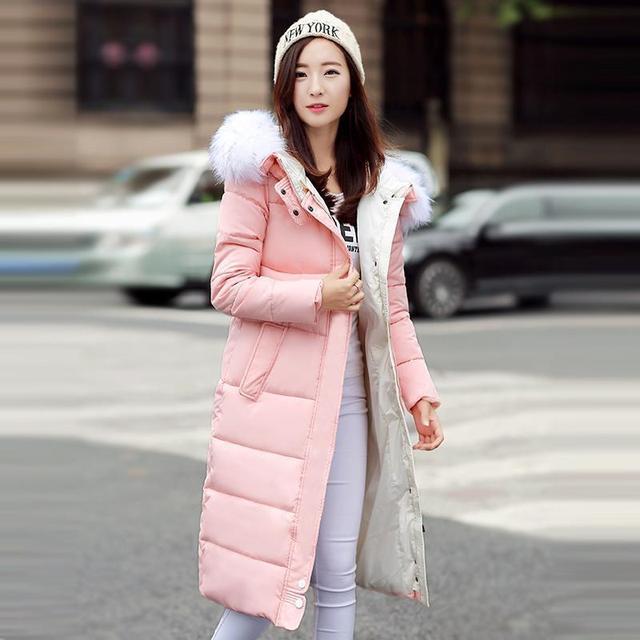 Mulheres Jaqueta de inverno 2016 Outono E Inverno Desgaste de Alta Qualidade Parkas Casacos de Inverno Outwear Mulheres Casacos Longos