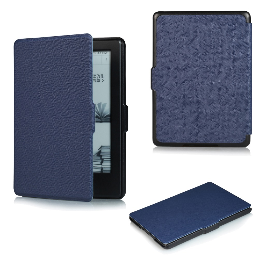 Case for Amazon Kindle 2016 8th Generation e-Book Cover, VTRONHYE Ultra Slim Smart Cover for 2016 New Kindle 8th e-Reader+Film magnetic case for new kindle 8th generation 2016 6 inch ebook smart sleep pu leather amazon cover ultra slim thin film pen