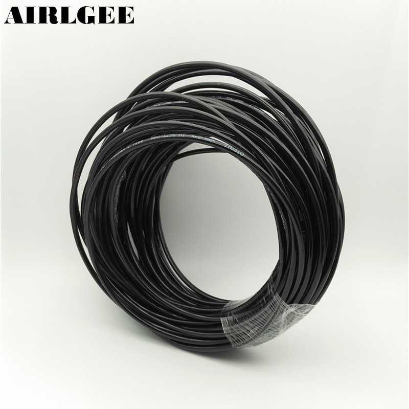 4mm OD 2.5mm Inner Dia Black PU Tube Hose Pipe 25m 82ft for Pneumatics4mm OD 2.5mm Inner Dia Black PU Tube Hose Pipe 25m 82ft for Pneumatics