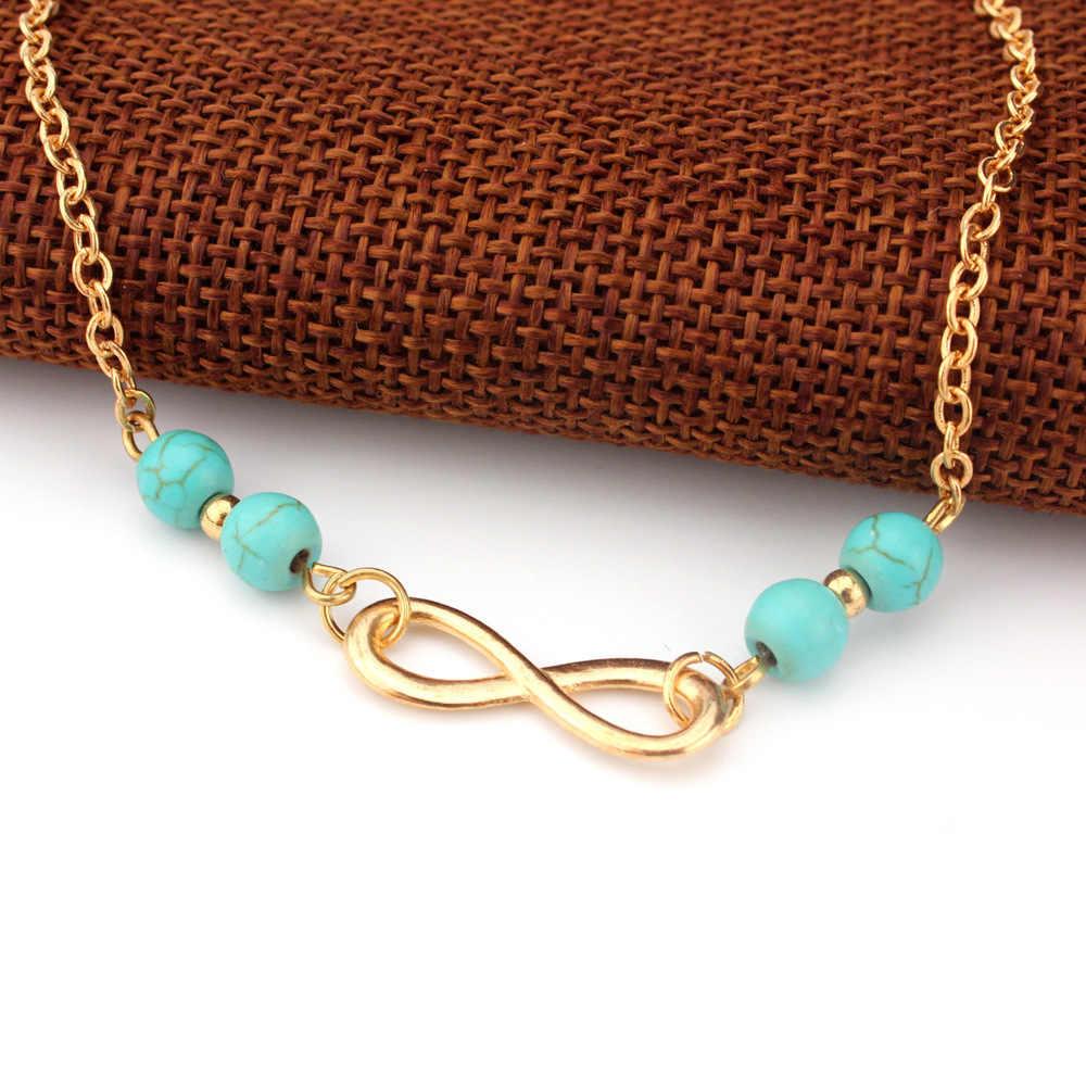 Nowa kostka bransoletka lato Style koraliki łańcuch na stopie łańcuszek na kostkę biżuteria bransoletka na nodze