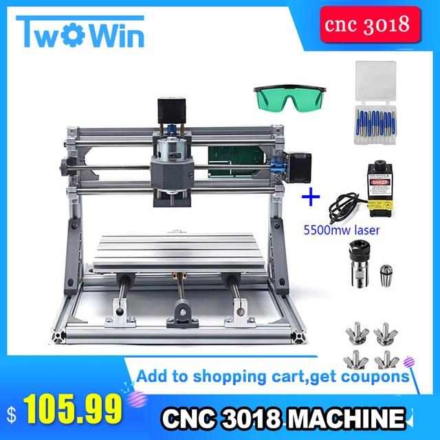 CNC 3018 with ER11 Diy mini CNC Laser Engraving Machine 3 Axis Plastic Acrylic Pcb PVC Milling Machine Wood Router Kits