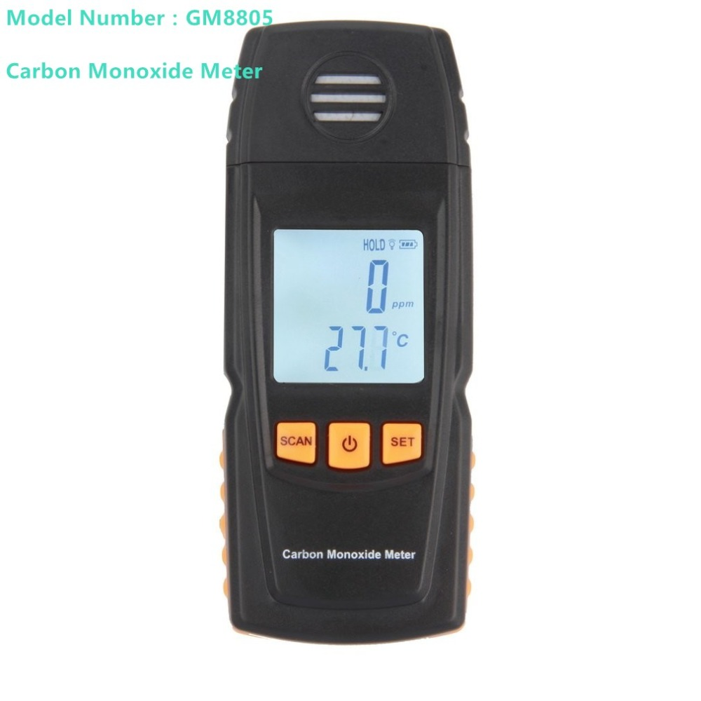 GM8805 Portable Handheld Carbon Monoxide Meter High Precision CO Gas Detector Analyzer Measuring Range 0-1000ppm detector de gas gm8805 digital co monitor carbon monoxide fire detector 0 1000ppm air gauge natural gas analyzer lcd handheld