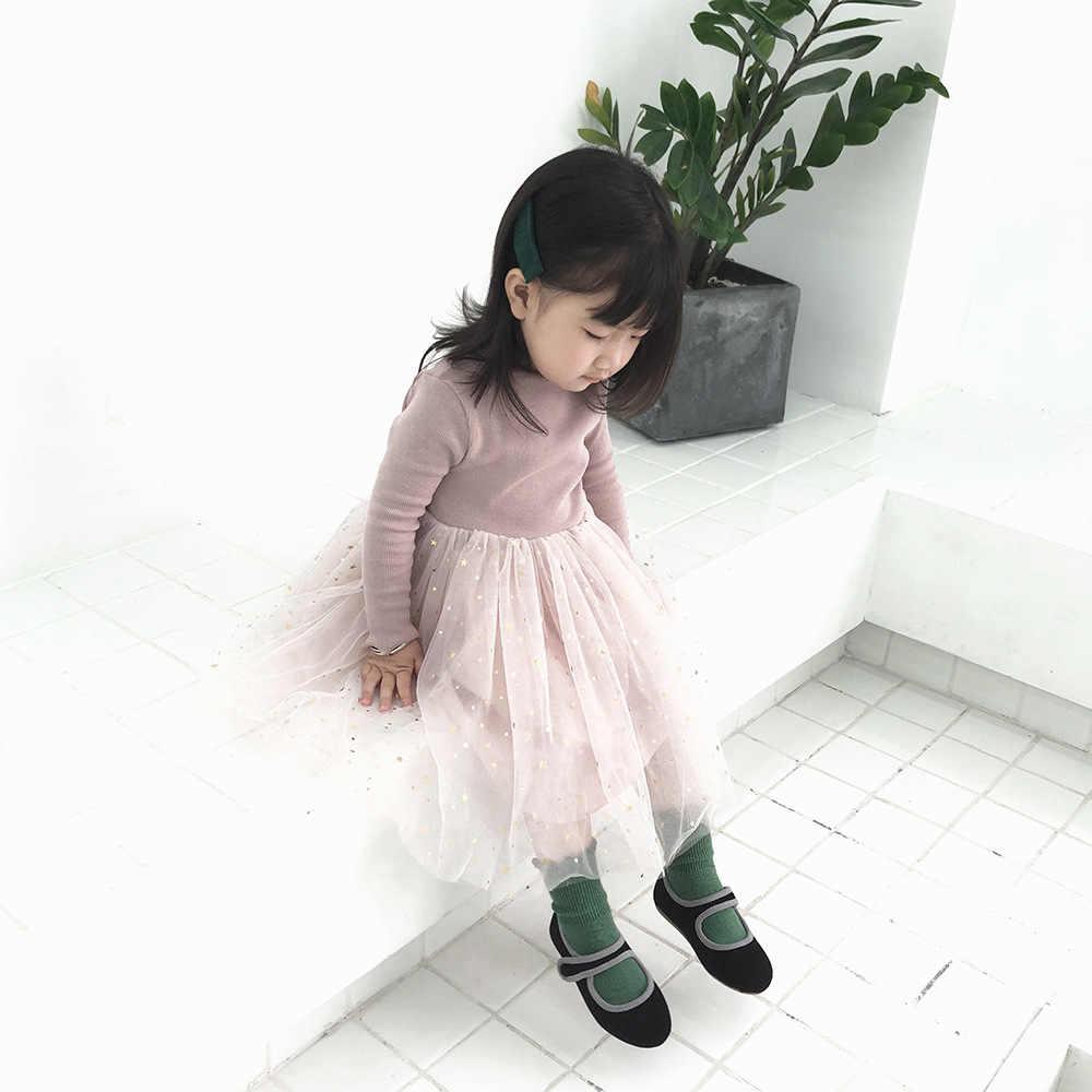 Delle Ragazze Nuovo Vestito Dalla Principessa Dei Bambini Versione Coreana Pentagramma a Maniche Lunghe Vestito Del Bambino Vestiti Della Ragazza Bambini Vestiti per Le Ragazze