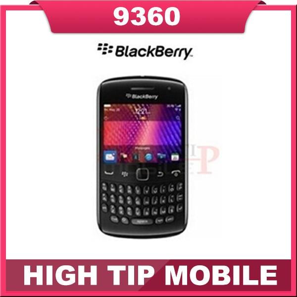 Original Curve 9360 Mobile Phone BlackBerry OS 7.0 GPS WIFI 3G Cellphone Refurbished
