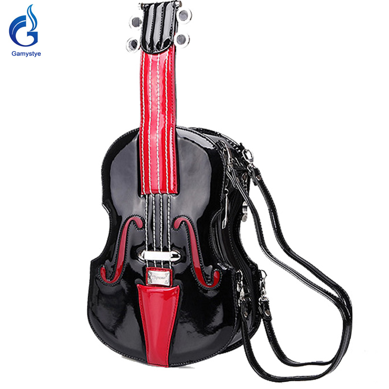 new fun Violin guitar style fun cartoon guita bags women Messenger shoulder bag