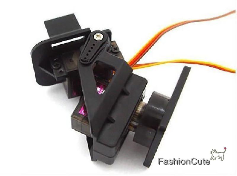 Prix pour 50 pcs Servo Support Nylon PT Pan/Tilt Caméra Miniature Montage Plate-Forme Anti-Vibrations en Caméra pour Nylon PTZ 9G SG90 Servo