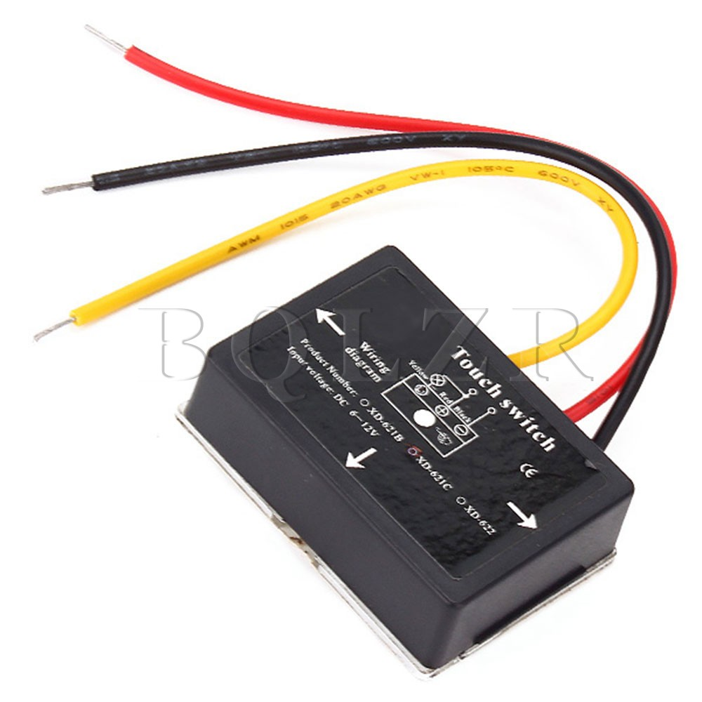 10PCS BQLZR Black 6 12VDC XD 622 On Off Touch Switch for LED Lamp Bulb Isolated