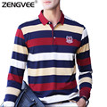 Mens Polo Shirt Letters Embroidered Men Strip Polo Shirt Turn-down Collar Casual  Polo Shirt Asian Size M-3XL