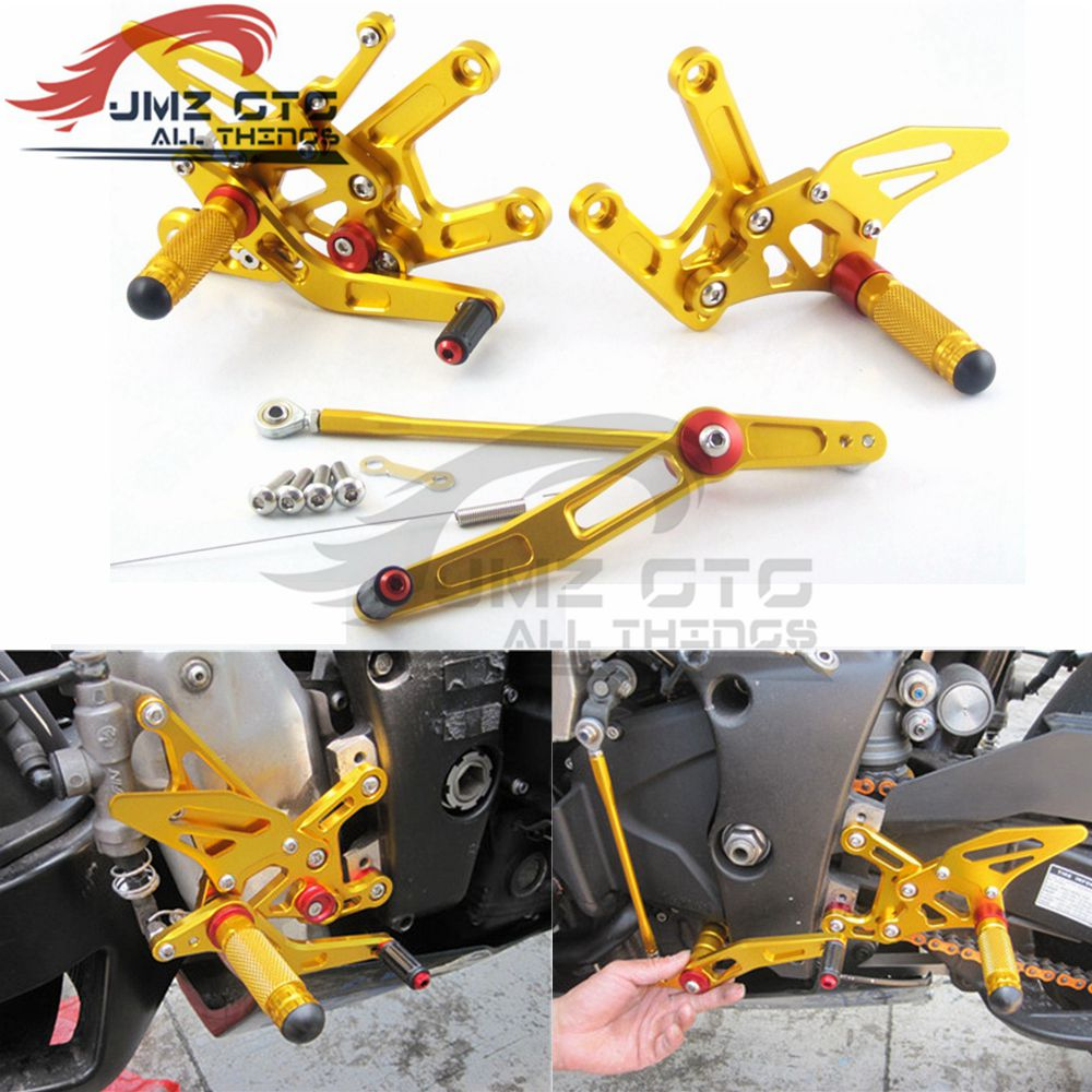 Motorcycle CNC Adjustable Rear Set Rearsets Footrest Foot Rest For YAMAHA R6 2006 -07-08-09-10-11-12-13-14-15-2016