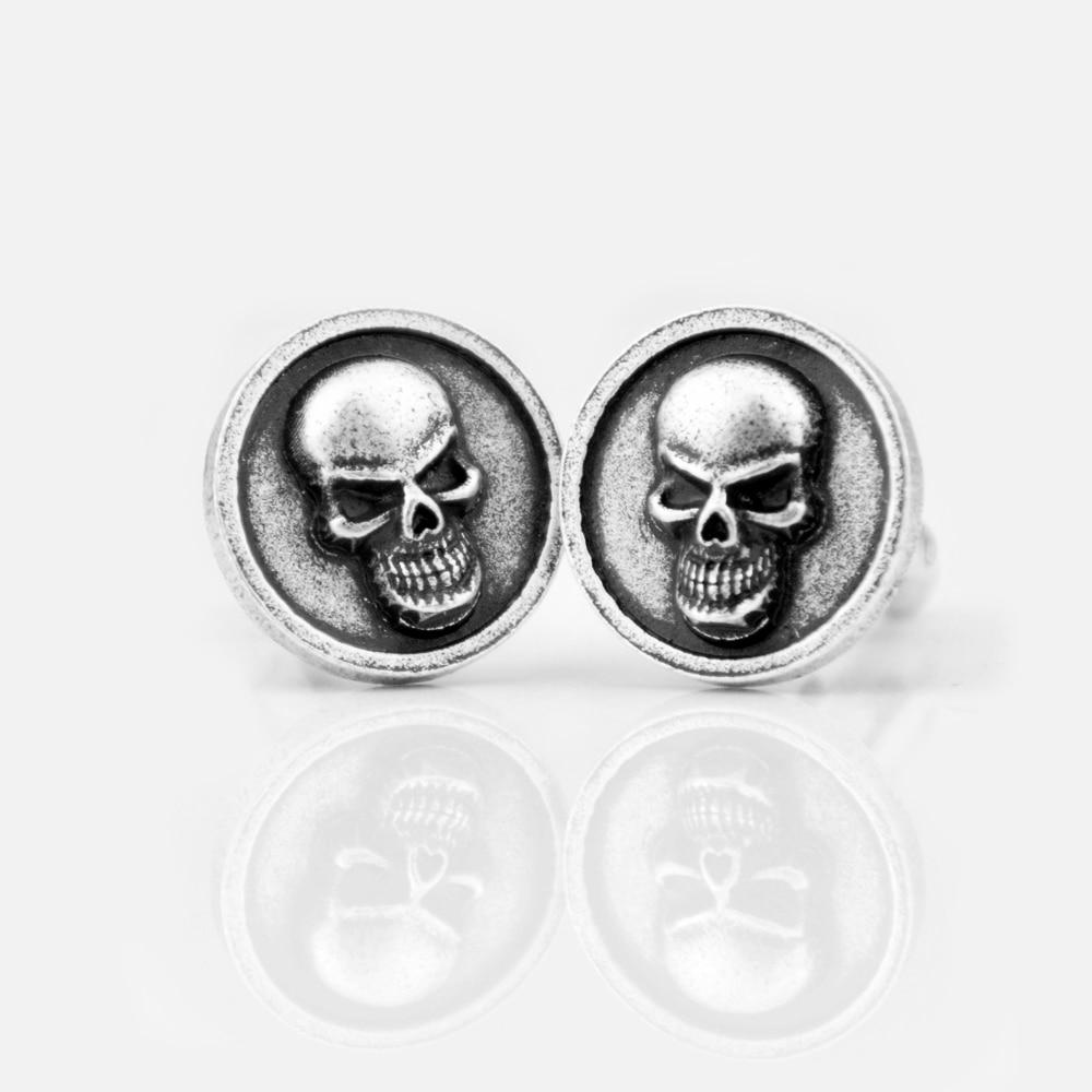 1 Paar Skeleton Schädel Manschettenknopf Für Männer Hemd Viking Pirate Manschettenknopf Schmuck Um 50 Prozent Reduziert